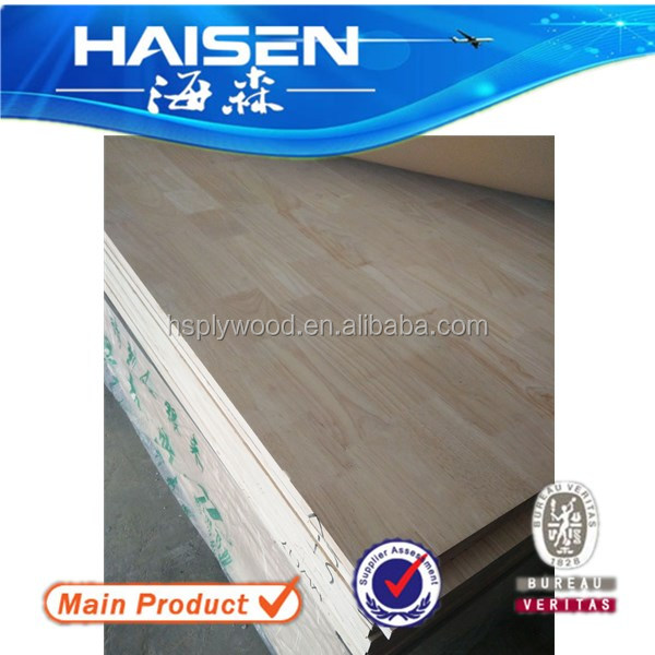 polished surface rubber wood finger joint lamination board 3 grade