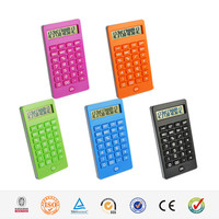 Hairong high quality 12 digit rubber keys mini pocket calculator 12 digits electronic calculator MD-9052