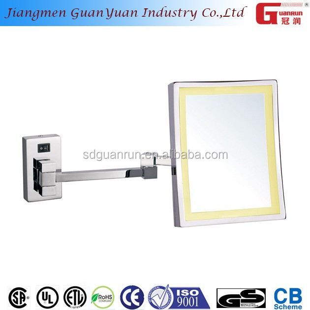 makeup dress up square full length wall chrome extending mirror