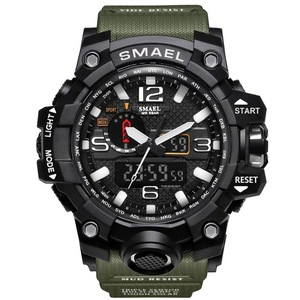 Men Military Watch 50m Waterproof Wristwatch LED Quartz 1545 Sport S Shock Sport Watch