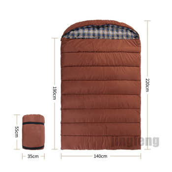 Outdoor camping large envelope double person sleeping bag