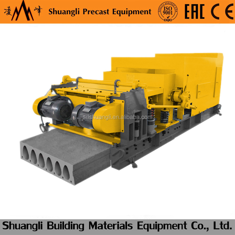 prefabricated house hollow core floor /roof slab making machine/precast concrete roof
