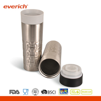 Everich 2016 550ml Double Wall Plastic Coffee Travel Mug With Push Lid
