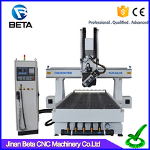 Large professional !! 4 axis rotating 180 degrees ATC cnc carving engraver for carpet
