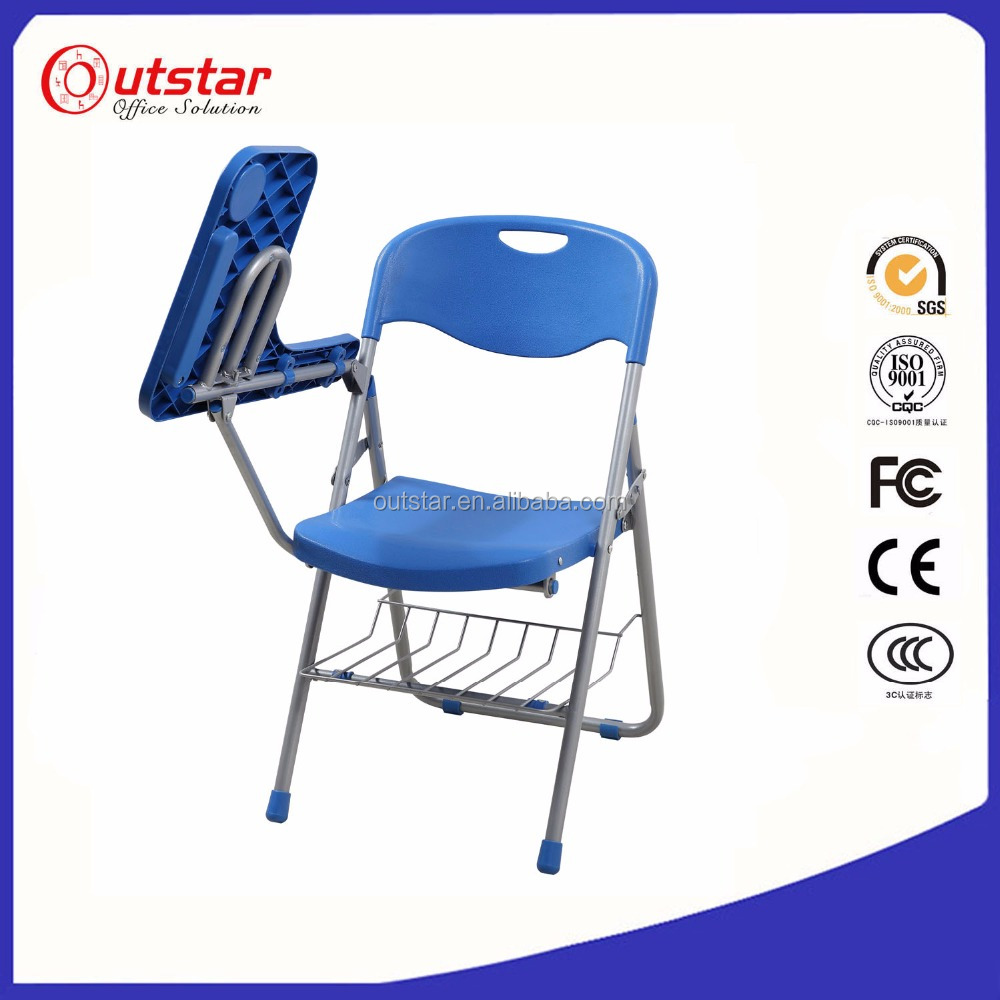 Student Foldable Conference Writing Chair with Writing Pad