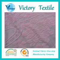 Cotton and Polyester CVC 80/20 Solid Dyed Large Jacquard Terry Fabric