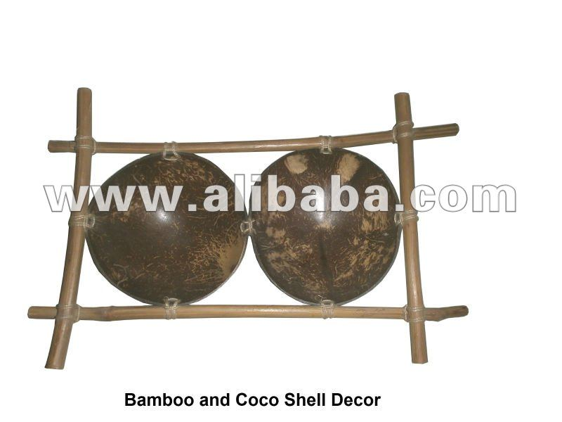 Bamboo and Cocoshell Decor