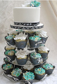 4 Tier Round Wedding Acrylic Glass Cupcake Stand Tree Tower-Cake Stand-Dessert Display Stand(CT-A-026)
