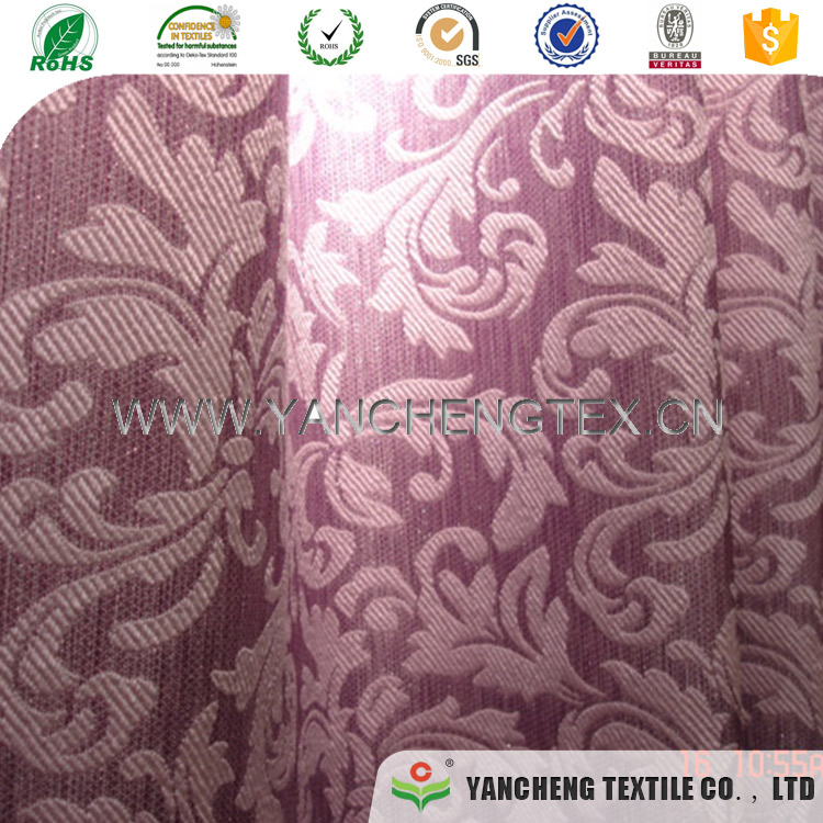 Proper price top quality wholesale polyester jacquard for curtain