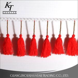 New arrival fashion gold beaded curtain tassel fringe