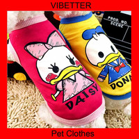 011 2015 newest dog clothes Cute Donald Duck Cute letter pattern pet clothes brand dog clothes