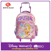 2016 Hot Sales Supplier Top Quality Kids Trolley Bags With Wheels Girls