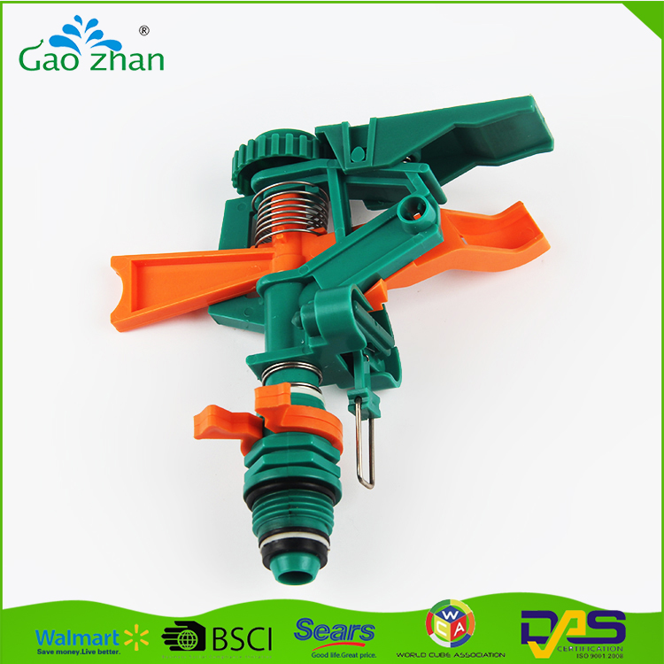 New product rotating plastic impulse water sprinkler for lawn