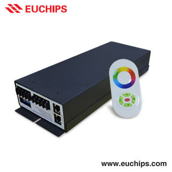 Shanghai Euchips factory direct price RF control 350W 175-264VAC 10A constant voltage dimmable 3 channel led rgb dmx controller