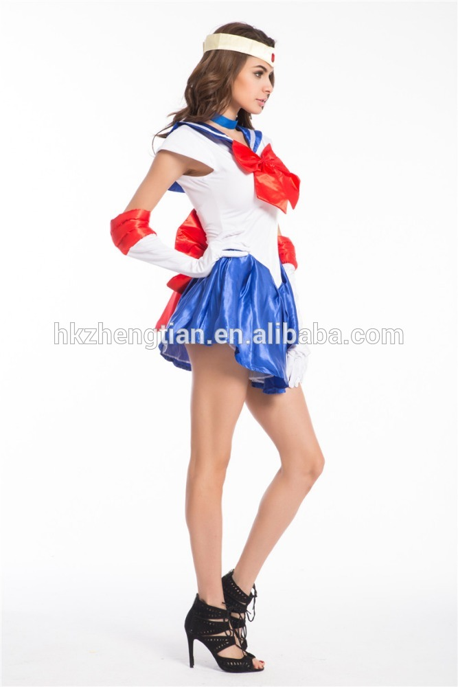 Walson Sey Navy Sailor Nautical Girl Fancy Dress Ladies Military Womens Adult Sailor moon fancy dress Costume