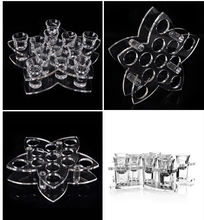 Special Design 12 Holes Acrylic Glass Cup Display Stand Plexiglass Wine Glass Holder Rack in Bar