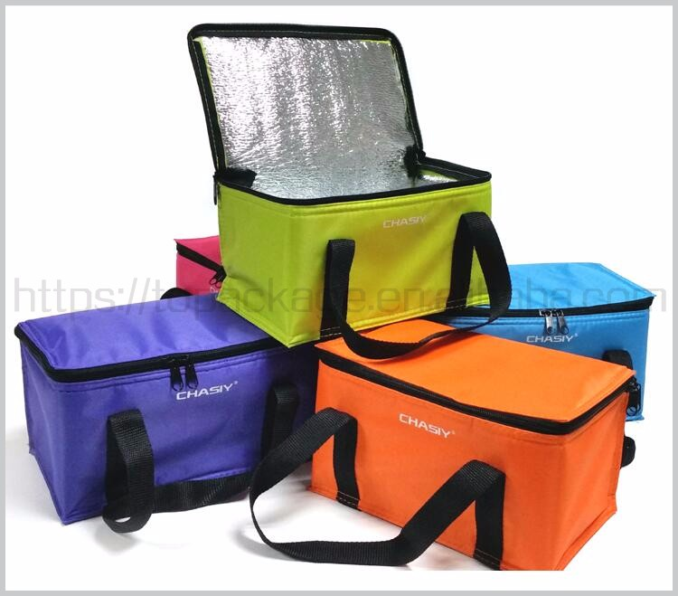 Promotional 600D Polyester Outdoor Wine Lunch aluminium foil insulated cooler bag with custom logo