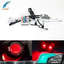 Car accessories decoration Light LED RGB demon eye devil eye for projector lens
