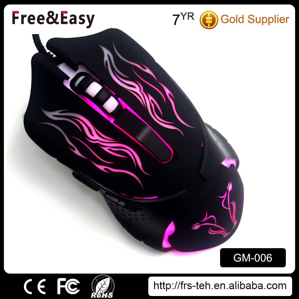 2017 OEM optical colorful latest design gaming mouse for laptop