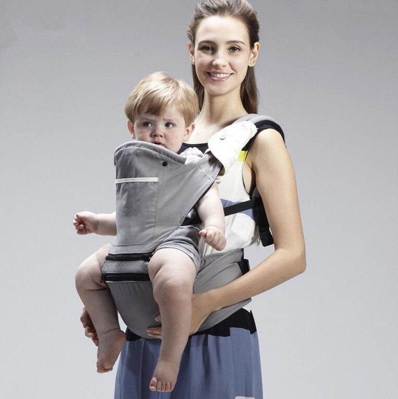 2017 Cotton Kangaroo Baby Carrier Hip seat with Hood Front Baby Sling 2-36 Month