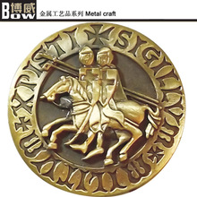 china hot sale free sample cheap gold horse design metal coin