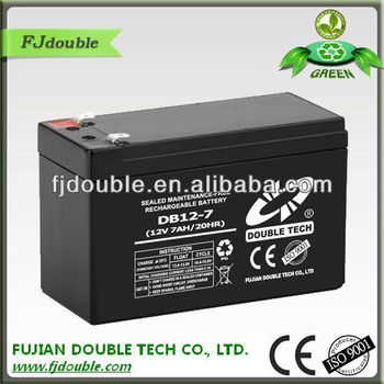 high power rechargeable 12v 5ah dry charged lead acid battery