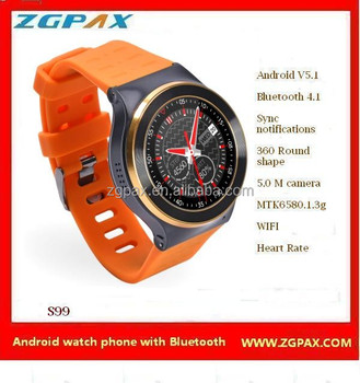 ZGPAX S99 heart rate monitors with remote camera smartwatch