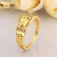 Exquisite Different Styles Wedding Bridal Model Gold Plated Hypo Allergenic Rings