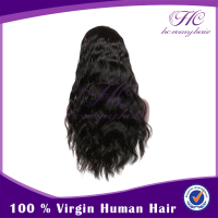 Fashion Design Virgin Brazilian Glueless Body Wave Full Lace Wig For Black Women