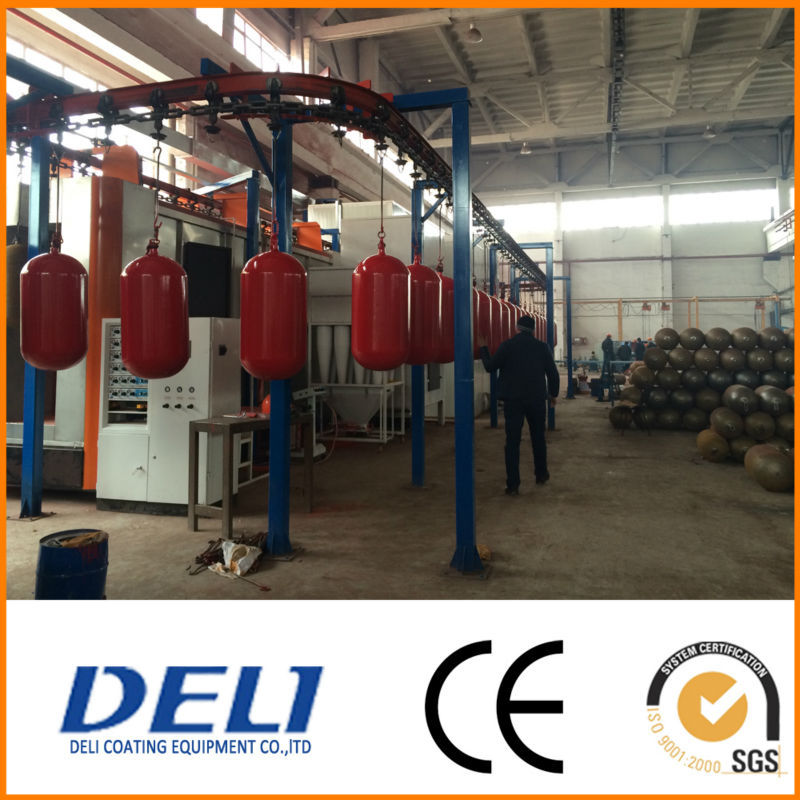 Powder coating line for CNG,LPG cylinder