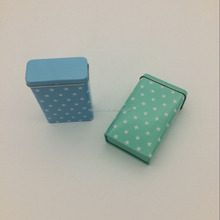 Food grade mint tin box with hinged lid