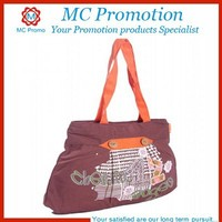 Popular cotton embroidered bag with long strip