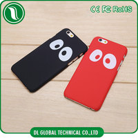 Fashion cartoon character pc case for iphone 6 with painting panda eyes hard phone case pure color pc for iphon case
