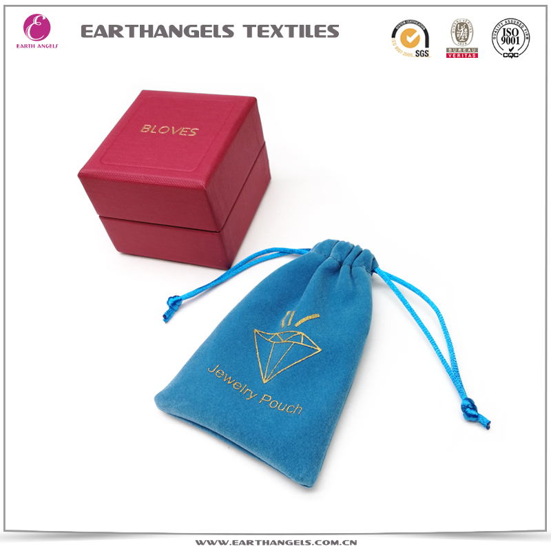 High-quality custom velvet jewelry pouch bag
