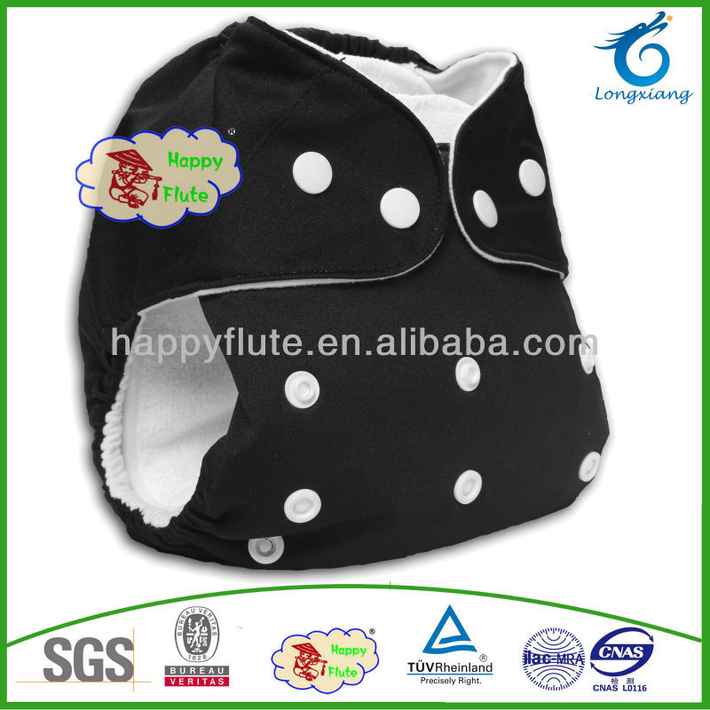 Happy flute best quality cloth baby diapers washable bamboo diaper free sample