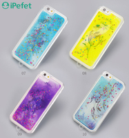 Newest Wholesale Cool Quicksand Bling personalized phone case for iPhone 6