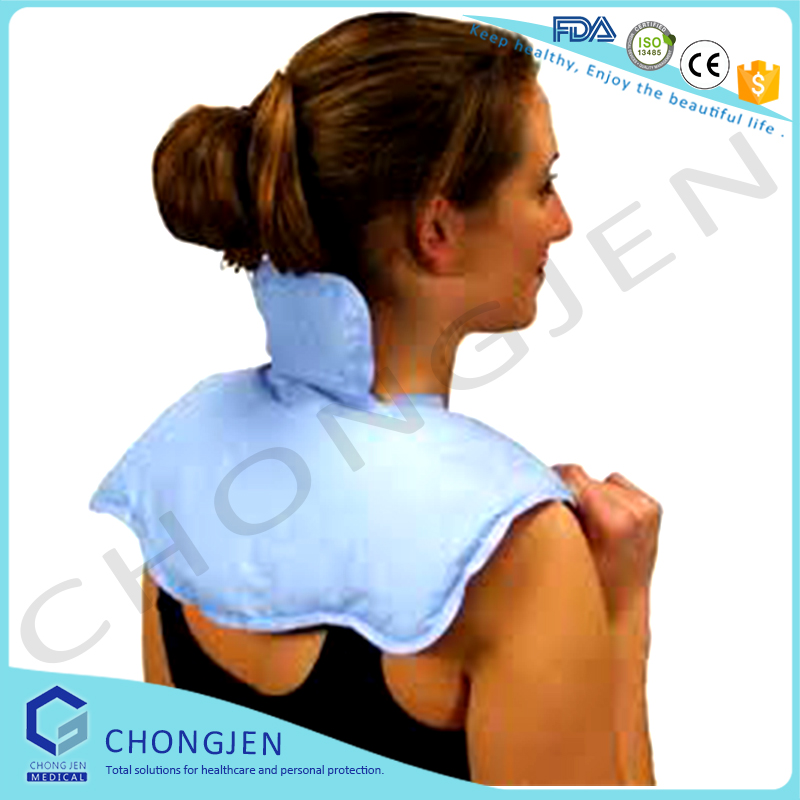 Reusable hot and cold heating shoulder pad