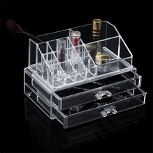 Personalized Makeup Cosmetic Organizer Storage Clear Drawer Box