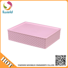 Four color foldable plastic storage container,plastic box containers