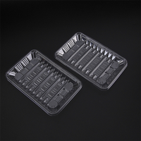 Disposable clear high quality plastic food sushi tray / box takeaway food container packing accept customization