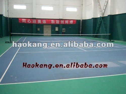 Tennis court sports vinyl flooring covering