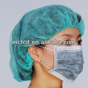 High quality disposable non-woven active carbon face mask for breathing automobile exhaust prevention