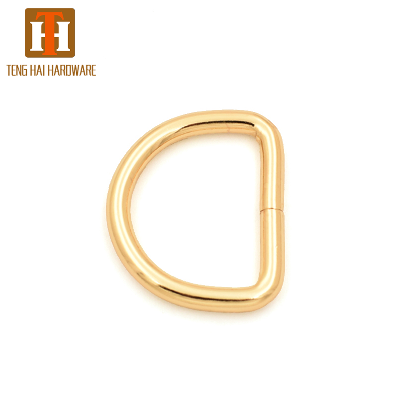 32mm High quality light gold color metal open <strong>d</strong> ring