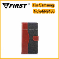 2014 Hot selling Flip cover case for Samsung Galaxy Note 4 with high quality