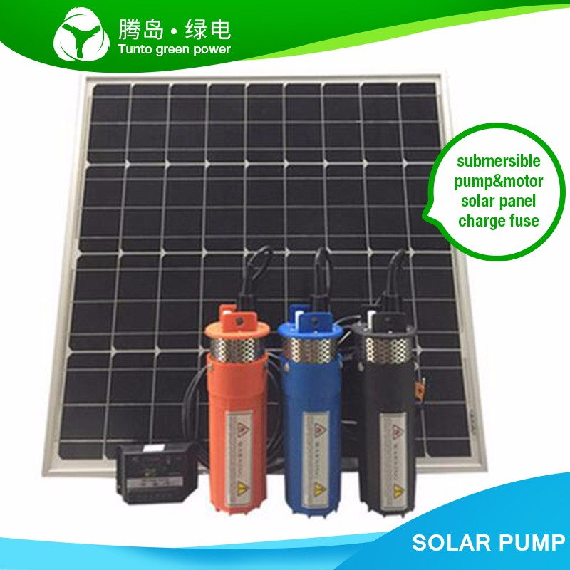 Solar powered 12V DC submersible water pump