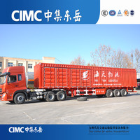 CIMC Tri-axle 40t-60 tons heavy duty van cargo trailer 20315