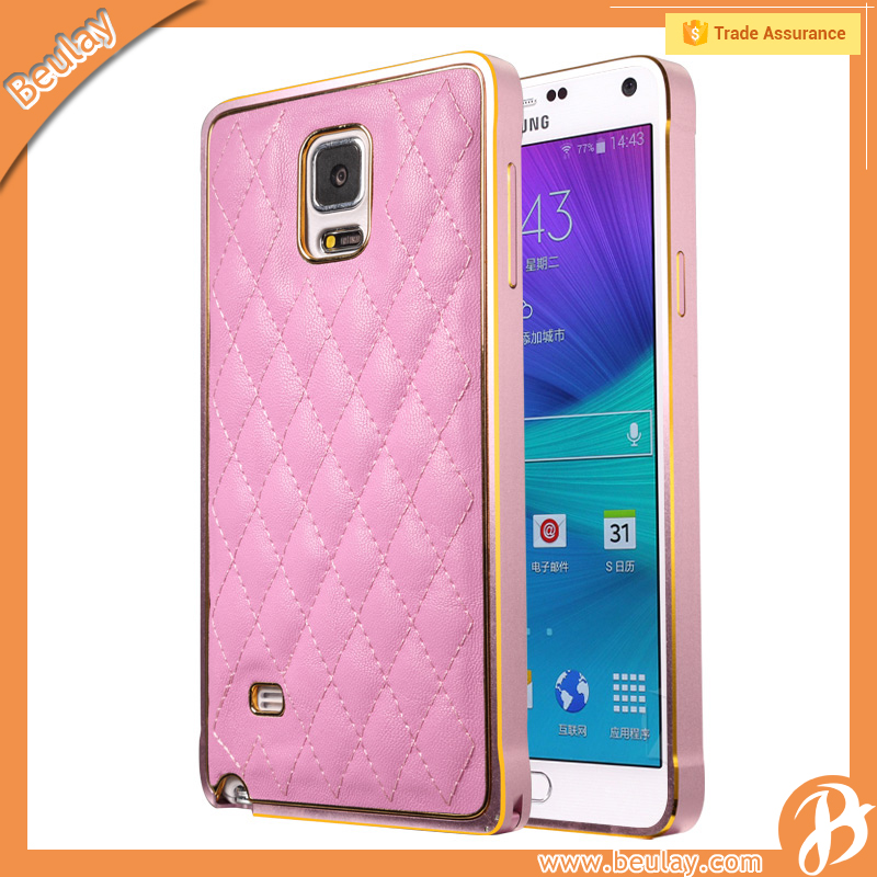 Wholesale Mobile Phone Leather Back Cover Housing Case For Samsung Note4