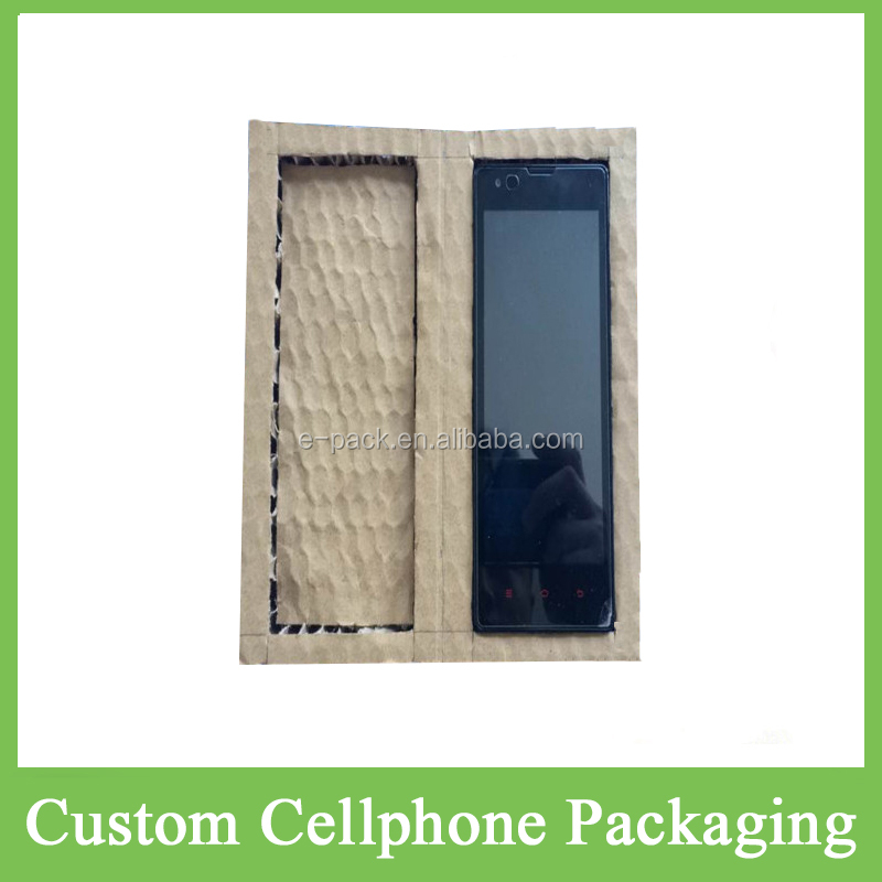 2016 Hot Innovative Honeycomb Paper Material Packing Paperboard Packaging Custom Box Cushion For LED Display/TV Screen/Cellphone