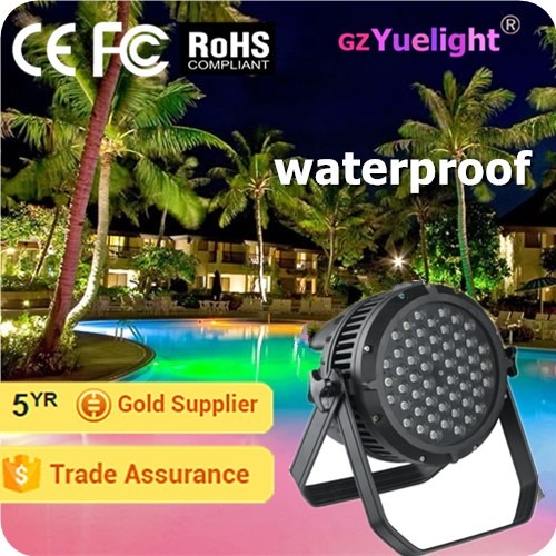 Yuelight IP56 led 54 3w par light rgbw waterproof led par light(YG-P003)