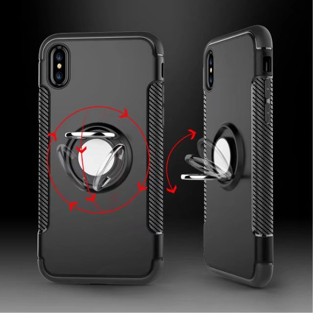 Ring stand shockproof case cover for iPhone X, Magnet holder case for iPhone X